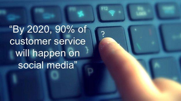 social media customer service will hit 90% in 2020