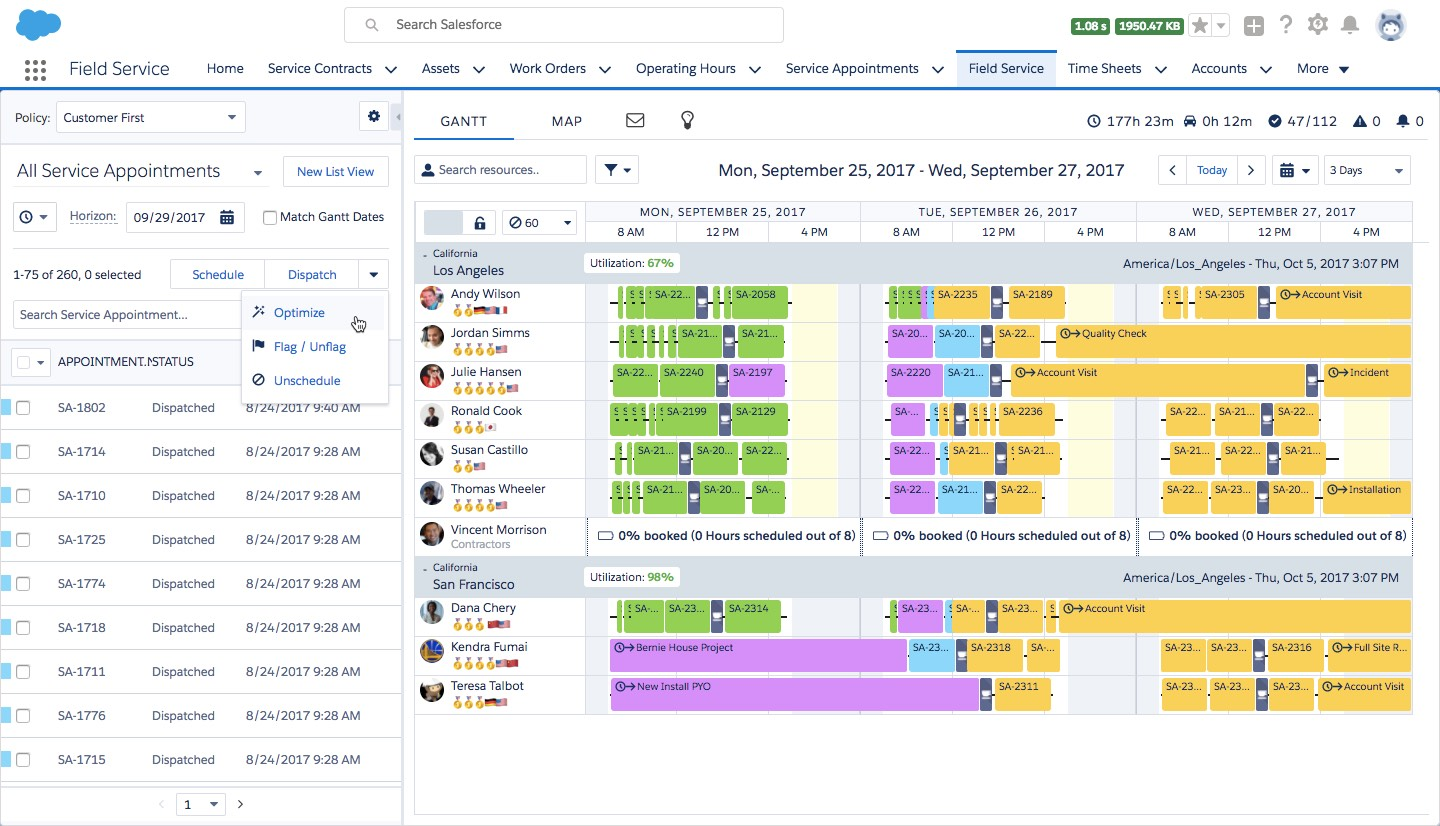 human centric service: field service scheduling